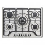 ElectriQ 70cm Gas 5 Burner Hob Stainless Steel IQGH701S