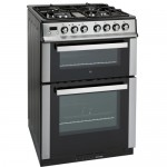 iQ 60cm Dual Fuel Double Oven Stainless Steel