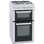 iQ 50cm Gas Twin Cavity Cooker White