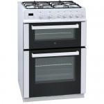 iQ 60cm Gas Double Oven White