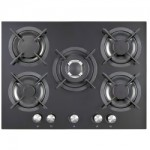 iQ 70cm 5 Burner Gas on Glass Hob - Black Glass