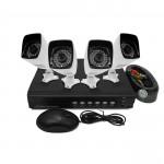 ElectrIQ 4 CH 1080p AHD CCTV Kit DVR 4 Bullet Cameras HD720p - TL-D4H422