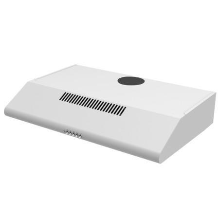 electriQ 60cm White Conventional Visor Cooker Hood