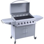 iQ Silver 6 Burner Gas BBQ with Side Burner