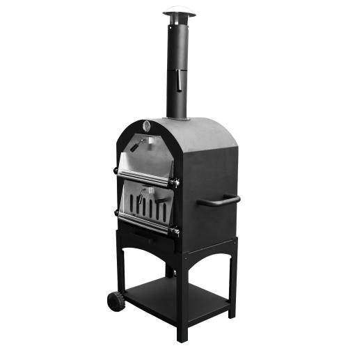 iq wood charcoal pizza oven smoker. Black Bedroom Furniture Sets. Home Design Ideas