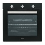 electriQ Extra Large Capacity 75 litre Built-in Fan-Assisted Single Oven - Supplied with a plug - EQBIOLG1