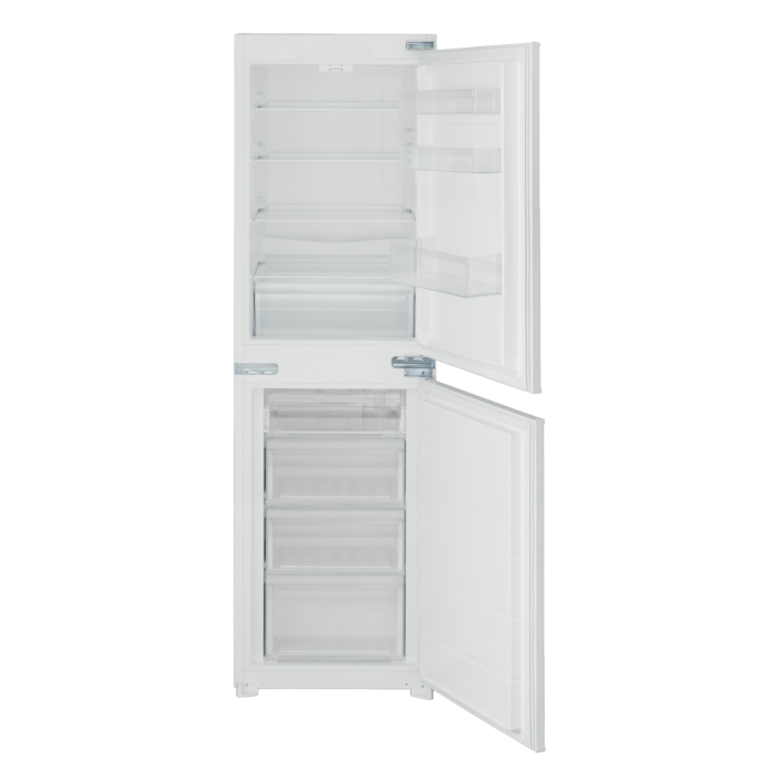 electriQ 54cm Wide 50-50 Integrated Upright Fridge Freezer - White EQINT5050FF