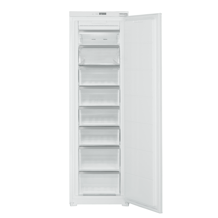 electrIQ 54cm Wide Frost Free Integrated Upright Freezer - White EQINTFREEZERTALL