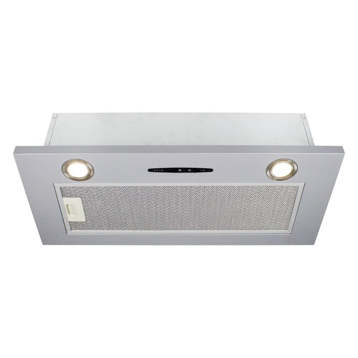 electriQ 70cm Canopy Cooker Hood in Silver
